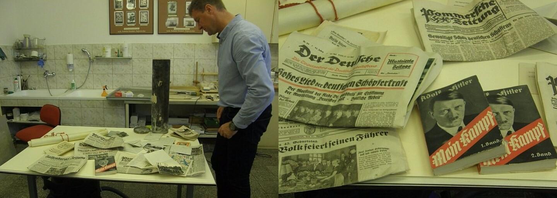 Nacistická časová kapsula plná mincí, fotografií Hitlera či výtlačkov Mein Kampf. Objavili ju v bývalej škole pre pohlavárov NSDAP v Poľsku