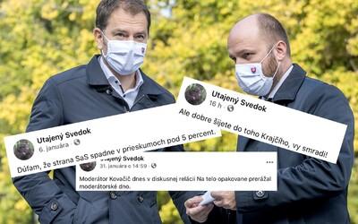 Naď aj Matovič zdieľajú anonyma, ktorý obraňuje členov OĽaNO a kritizuje opozíciu, SaS aj médiá