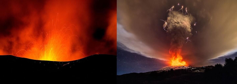 Nádherné přírodní divadlo. Nejvyšší sopka Evropy Etna po dvou letech opět vybuchla