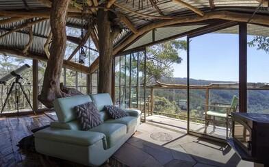 Nádherný dům na stromě, kde se můžete ubytovat, ale už asi nikdy nebudete chtít odejít