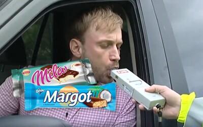 Nafúkal by si aj z obľúbených slovenských sladkostí. Test ukázal, že policajti ti alkohol v krvi nájdu aj po keksíku Mila či Margot