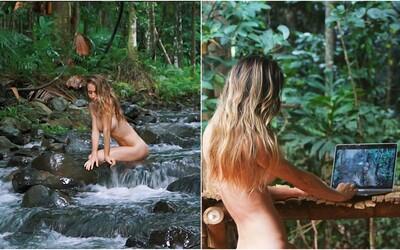 Nahá blogerka sa vzdala tradičného spôsobu života. Žije v džungli a ušetrila už tisíce eur