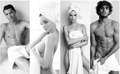 Nahá Miley Cyrus, Cristiano Ronaldo, Emily Ratajkowski nebo Justin Bieber – ručníková série stále pokračuje