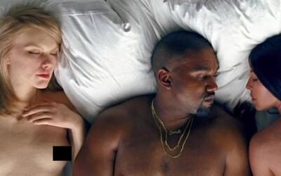 Nahé telá celebrít ako Rihanna, Taylor Swift či Kim Kardashian zdobia Kanyeho video na Famous