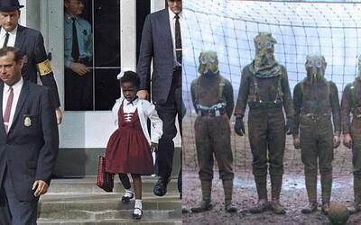 Nahlédni do historie barevnou optikou. Stalin či černošská holčička s eskortou vypadají nevšedně