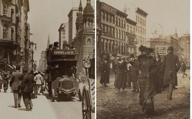 Nahliadni do ulíc New Yorku v 19. či 20. storočí. Zaujímavý projekt ťa zoberie späť do minulosti