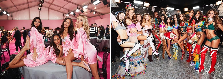 Nahlédněte do zákulisí přehlídky Victoria's Secret plného nádherných, spoře oděných modelek