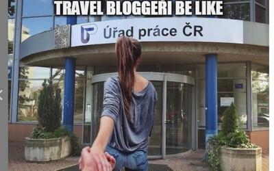 Nahota prodá cokoliv a travel bloggeři chtějí peníze od fanoušků. Instagramový profil si trefně utahuje z influencerů