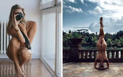 Nahú modelku, ktorá cvičí jogu, sleduje už 700-tisíc ľudí.  Jej odvážne zábery nesú dôležité posolstvo
