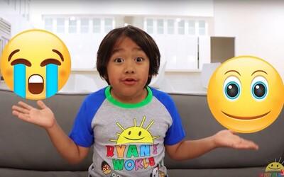 Najbohatší youtuber roku 2019 je 8-ročný chlapec, zarobil 26 000 000 dolárov. Na svojom kanáli sa hrá s hračkami