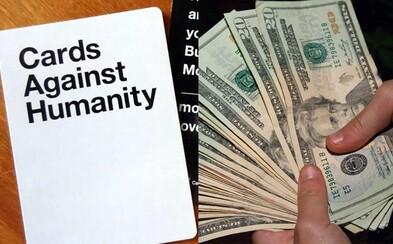 Najchudobnejším zákazníkom poslali po 1000 dolárov, aby svet upozornili na nerovnosť bohatstva. Cards Against Humanity opäť zabodovalo