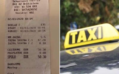 Najdrahší bratislavský taxikár Aladár si za 13 minút jazdy vypýtal 50 €. Prišiel o koncesiu, vraj šoféruje pod falošným menom