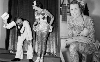 Najfotografovanejšia potetovaná žena 20. storočia sa narodila v roku 1909 a telo jej zdobilo viac ako 565 farebných kresieb