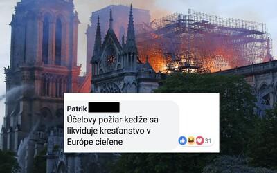 Najhlúpejšie komentáre Slovákov: Notre-Dame zapálili moslimovia, na jeho mieste bude mešita