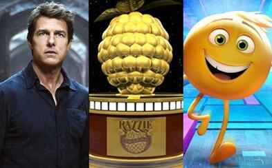 Najhorším filmom roka sa stáva otrasné The Emoji Movie. Zlaté maliny si odnieslo aj 50 odtieňov temnoty či Tom Cruise