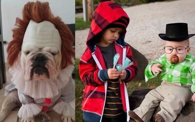 Najkrajšie halloweenske kostýmy detí a psíkov, pri ktorých sa vyšantili hlavne ich rodičia – geekovia