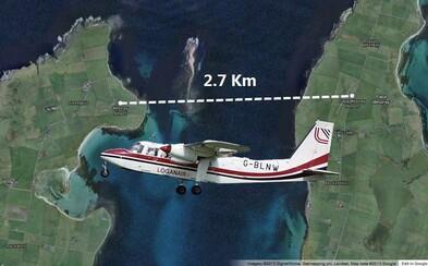 Najkratší komerčný let na svete. Trvá 47 sekúnd a lieta medzi letiskami vzdialenými 2,7 kilometra od seba