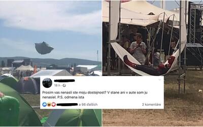 Najlepšie komentáre z festivalu Grape: Nemá niekto fotku, ako letí môj stan? Mamka si myslí, že som bol na mol