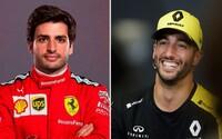 Najmladšia dvojica jazdcov vo Ferrari za posledných 50 rokov. Sainz prebral žezlo po Vettelovi, Ricciardo sa usmieva v McLarene
