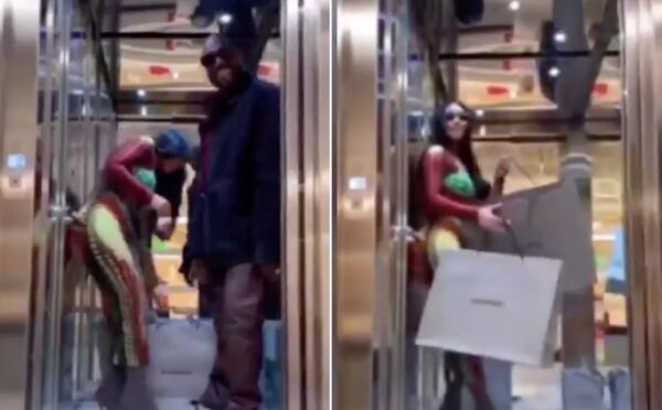Najprv ju vybozkával, potom vykročil z výťahu a musela ťahať všetky tašky. Kanye West zosmiešnil Kim Kardashian na plnej čiare