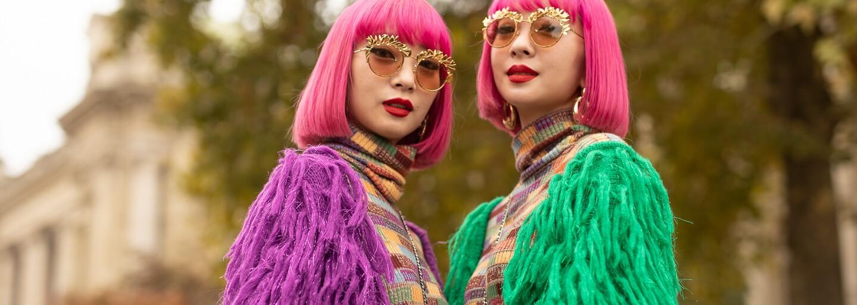 Nejroztomilejším trendem týdnů módy z celého světa jsou sladěné outfity