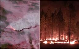 Najväčší požiar v USA je už vidieť aj z vesmíru. Má vlastné počasie a môže vytvoriť ohnivé tornáda