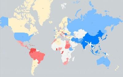 Najväčšie penisy majú v Kongu, najmenšie na Blízkom východe. Vtipná mapa ti ukáže, aké veľké prirodzenia majú ľudia vo svete