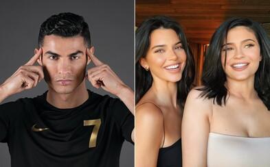 Najviac na Instagrame zarába Ronaldo, Kylie a Kendall Jenner sú ďaleko v závese. V TOP 10 je až 6 futbalistov
