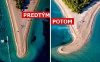Najznámejšiu chorvátsku pláž radikálne zmenila búrka