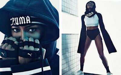 Naomi Campbell hviezdi v talianskom Vogue odetá vo Fenty kúskoch od Rihanny a Pumy