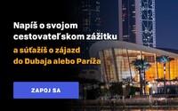 Napíš blog a vyhraj letecký zájazd do Dubaja, Paríža alebo wellness pobyt v Maďarsku