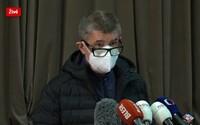 Nárůst je obrovský, situace je vážná, říká Andrej Babiš. Úplný lockdown nevylučuje