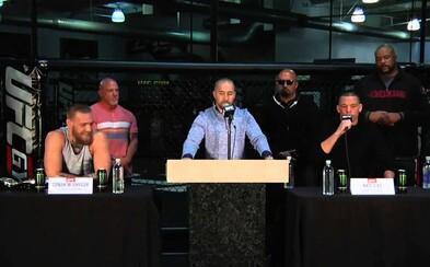 Nate Diaz na včerajšej tlačovke obvinil Conora McGregora z užívania steroidov. Spomínala sa aj rozdielna váha