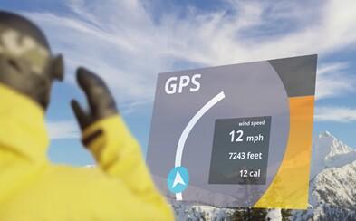 Navigace nebo digitální tachometr. Univerzální HUD pro sjezdové brýle udělá z jízdy nezapomenutelný zážitek