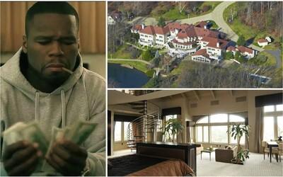 """Ne, """"zbankrotovaný"""" 50 Cent opravdu není úplně na dně. Sídlo s 24 koupelnami a nightclubem mluví za vše"""