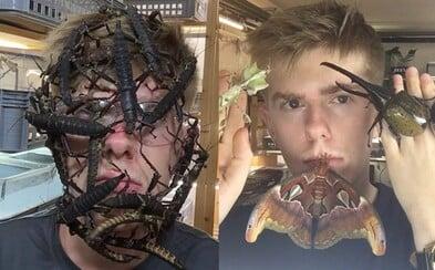 Nebojí sa zapózovať s najnechutnejším hmyzom na tvári a doma má cez 600 kusov živočíchov. Adrian sa do hmyzu zamiloval ako dieťa