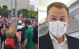 Nechceme Ameriku, sme Slovania a chceme žiť na Slovensku. V Bratislave prebiehal protest proti Matovičovej vláde