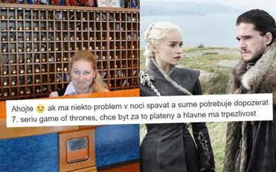 Nechceš byť platený za pozeranie Game of Thrones? Vtipný slovenský inzerát ponúka prácu, v ktorej aj tvoj šéf vie, čo budeš robiť