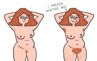 Nechutné, ale běžné věci, které dělají ženy v zimě. Proti zimě se přeci musí chránit i méně atraktivními způsoby