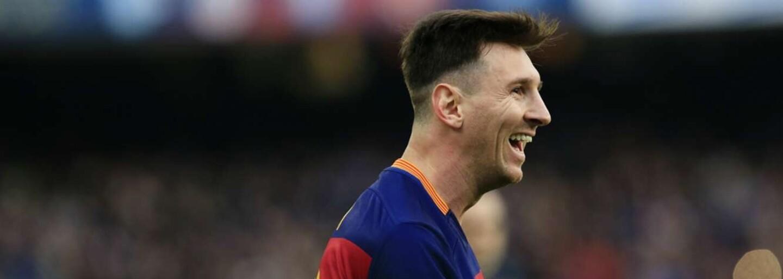 Nečudo, že mestský rival Barcelony nemá Messiho v láske. Už ako 17-ročný si robil z ich hráčov kužele