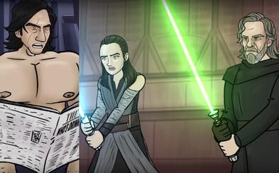 Nedokázali ste si užiť Star Wars: The Last Jedi? Toto skvelé animované video plné vtipu a paródie vám to dozaista umožní