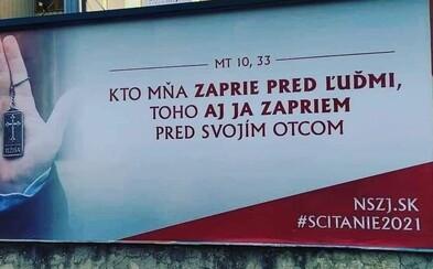 Nehanbím sa za Ježiša! Na Slovensku sa objavili billboardy iniciatívy, ktorá chce, aby ľudia v sčítaní podporili cirkvi