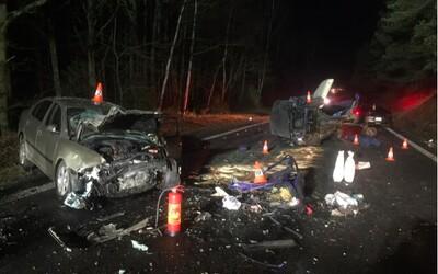 Nehoda u Milevska: Řidička ujela od dvou nehod, při třetí zemřela po čelním nárazu