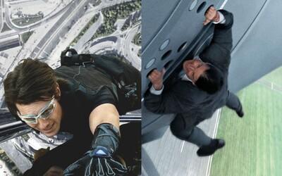 Nejnebezpečnější kaskadérské kousky Tom Cruise, při kterých mu šlo o život a často se pohyboval stovky metrů nad zemí