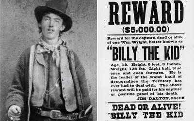 Nejobávanější psanec a legenda Divokého západu Billy the Kid zemřel v pouhých 21 letech. Jeho slavné jméno však žije dodnes