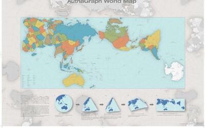 Nejpřesnější mapa světa vůbec. Japonský umělec v ní zanechal skutečné proporce států a získal za ni i ocenění