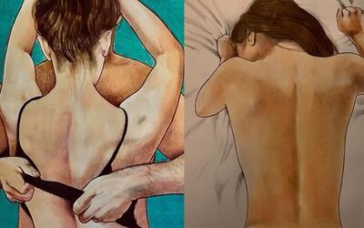 Nejpřirozenější lechtivé momenty ve vztahu. Frida se nebojí kontroverze a ve svých ilustracích zachycuje živočišnou přitažlivost