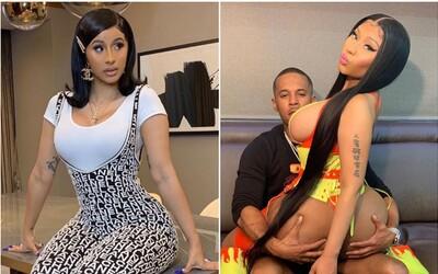 Nejsem slavná díky Instagramu, reality show ani orálnímu sexu, vzkazuje Nicki Minaj Cardi B