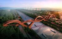 Nejšílenější most světa se nachází v Číně. Má připomínat horskou dráhu nebo uzel a spojuje tři mosty v jeden
