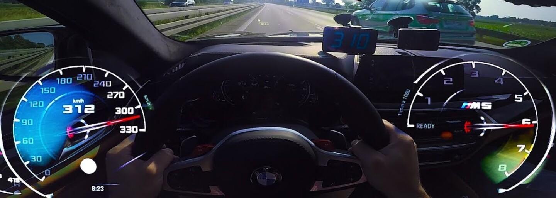 Nemeckí policajti sa len pousmiali, keď ich v rýchlosti 310 km/h predbehli odvážlivci na BMW M5